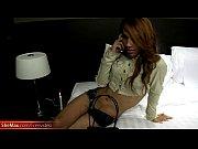 Rafe gets his huge cock sucked by sexy redhead Thai ladyboy