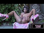 heeled black femboy outdoors wanking cock