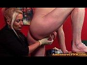 CFNM femdom doctor wanking patients cock