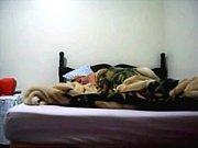 amateur bed scene