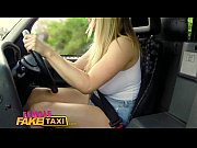 femalefaketaxi busty blonde creampied by criminal after blowjob.