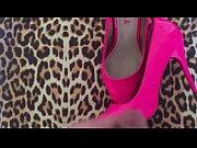 Pink high heels orgazm!