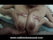 Big boobs ebony girlfriend Serena blowjob in bed