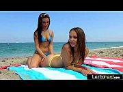 (Jenna Sativa &amp_ Liza Rowe) Lesbian Lovely Teen Girl In Sex Action Tape movie-16