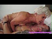 Alluring granny enjoys riding hard cock
