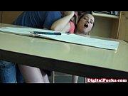 slutty schoolgirl fucking cock in class