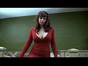 Mistress Sara Chastity Tease in Red Dress POV