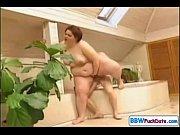 plump fat woman fucks and sucks in a tub