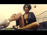Horny latina babe toys her holes
