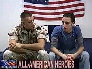 Military man tops an ass