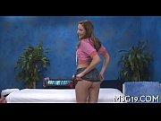 Hot massage cutie bounces on cock