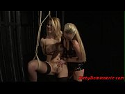 caged european slave punished by mistress