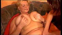 Mature woman with incredible huge tits fucked b... thumb