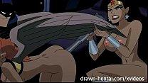 Justice League Hentai - Two chicks for Batman dick pornhub video