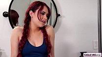 Redhead babe milking her milf bff's Thumb