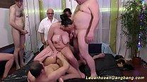 Redhead german milfs first bukkake fuck orgy