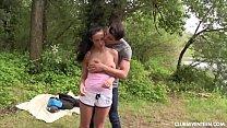Chesty teen Nicole gets pounded outdoors Vorschaubild