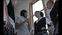 Three Girls In Uniform Gang Up On Leilani