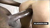 Hot white woman rides black cock
