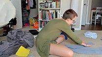Ignoring You While Folding Laundry Konmari Method thumbnail