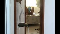 Mulher do Corno se Exibindo sem calcinha para o Eletricista thumbnail
