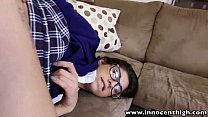 18579 InnocentHigh Hot schoolgirl Ava Taylor in nerdy glasses fucked hardcore preview