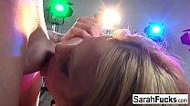Screenshot Blonde MILF  Sarah shows off her cocksucking skills