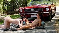 oral creampie - Prestley dawson and alena rains outdoor lesbian sex thumbnail