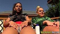 Scissoring watersport lez tumblr xxx video