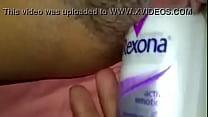 desodorante na buceta