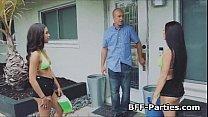 Threeway bikini bigtit carwash fuck pornhub video