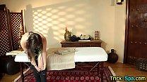 Brunette hottie massage preview image