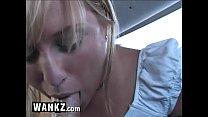 WANKZ - Blonde Teen Sucks Cock In The Back Seat! porn image
