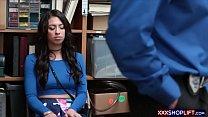 Super cute brunette teen shoplifter fucks a security guard thumbnail