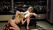 Blonde lesbian squirts