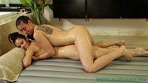 Rilynn Rae & Vanessa Veracruz nuru massage with strapon