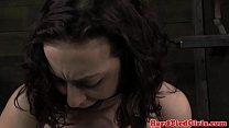 Maledom busty sub nipple clamped video