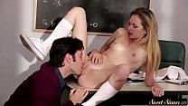 Classy schoolgirl fucked in the classroom