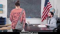 InnocentHigh - SchoolGirl Pretends Fucks Her Way Out Of Trouble