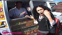 icecream truck teen schoolgirl puffy black hair thumb