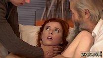 Skinny blonde girl fucked and fantasy massage m...