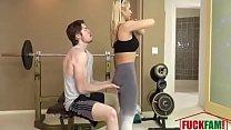 Fitness Trainer MILF Fucks Client For Free pornhub video