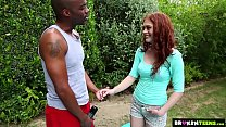 Brokenteens - Redhead cutie gets a big load for... thumb