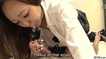 Japanese schoolgirls handjob and blowjob class Subtitles image