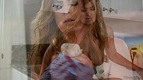 Elexis Monroe sniffing her Step Daughter's panties • (christina hendricks ass) thumbnail