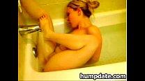 Horny babe masturbating in the bath tub pornhub video