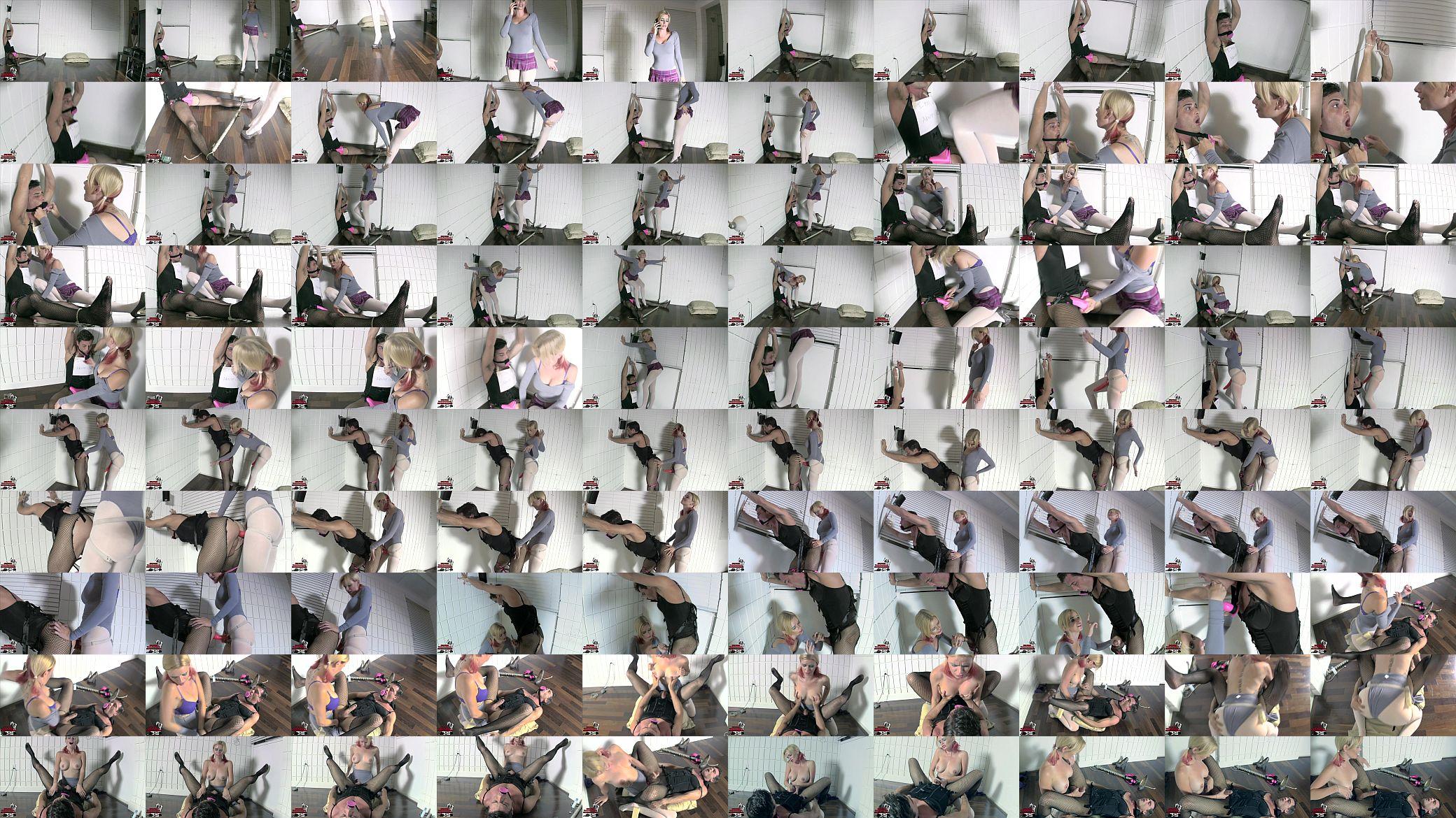 Horny milfs give handjob videos