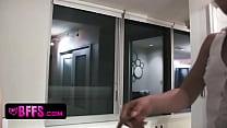 Teen besties pajama party and lesbosex