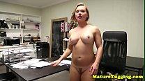 Milf secretary jerking cock in amazing pov pornhub video