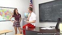 InnocentHigh Smalltits schoolgirl teen rides teachers cock thumbnail